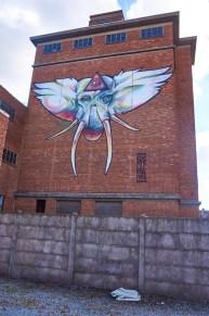 Mural by Locatelli & Polak in Hasselt, Belgium