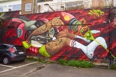 Mural by Danjer Mola in Hasselt, Belgium