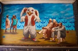 Street art by DIN DIN in Hasselt, Belgium