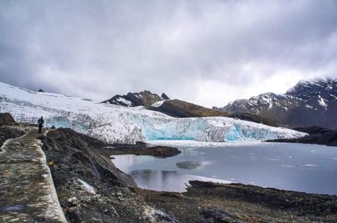 Contemplating the Pastoruri Glacier in Peru