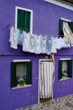Purple house in Burano, Italy