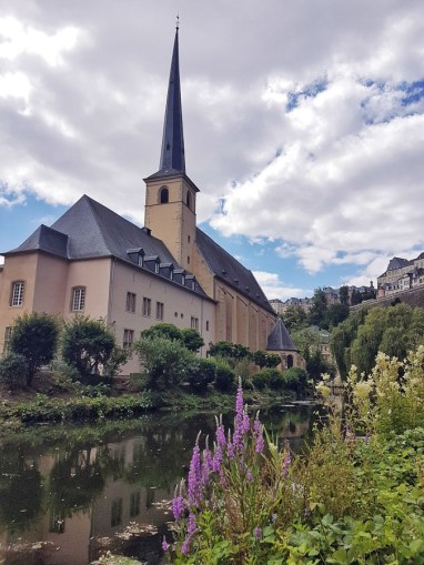View during the Wenzel walk in Luxembourg city