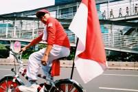 Indonesiens rød-hvide farver