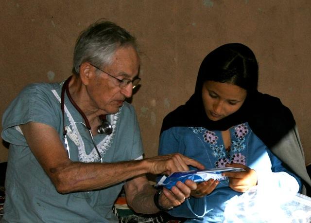 Dr. Skankey instructing Aicha