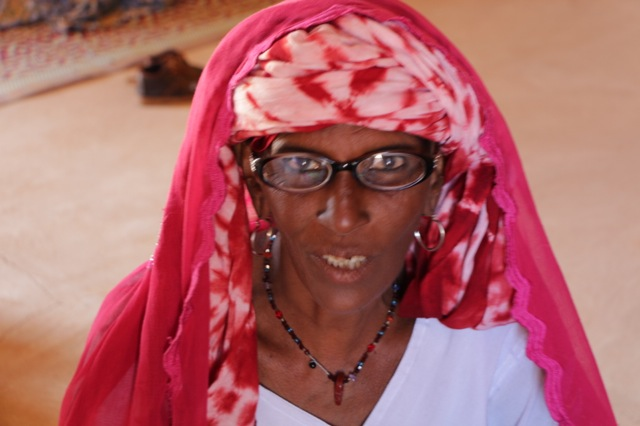 Fatima one of our finest matrones is now an assistant trainer.   She received glasses sent by Eyes on Africa.