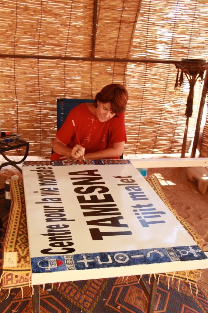 Painting the Tamesna sign