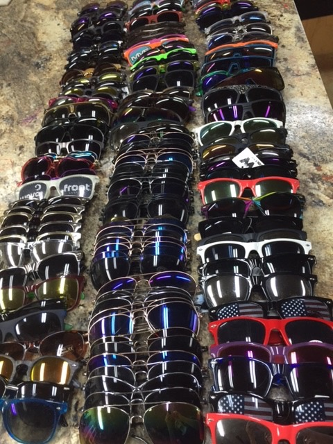 296 pairs of readers, and 250 pairs of sunglasses donated by Eyes on Africa--Thank you Sherry Grigsby and partner Diff eyewear