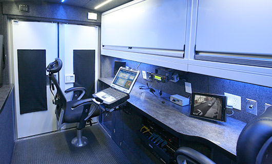 Inside Mobile Surveillance Vehicle
