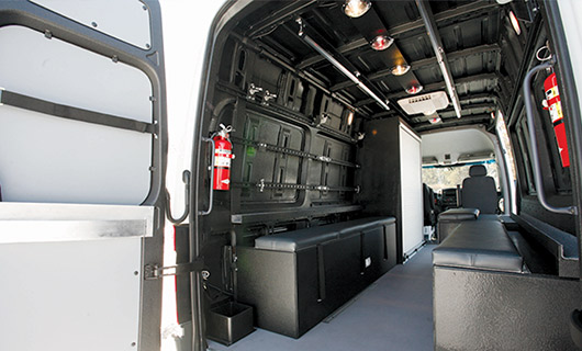 Swat Vehicle Seating and Storage