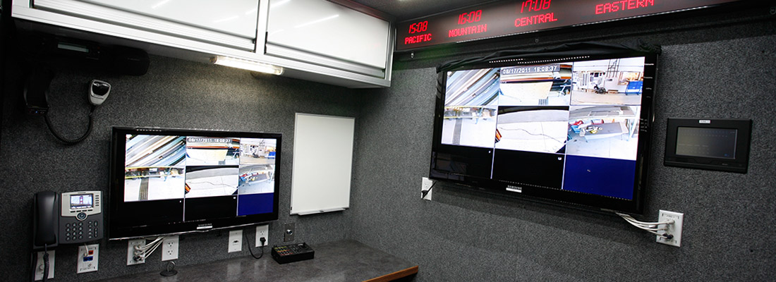 Surveillance Screens in Vehicle