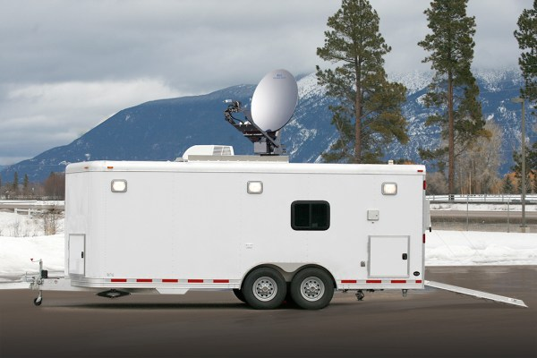 Communications Trailer with Satellite
