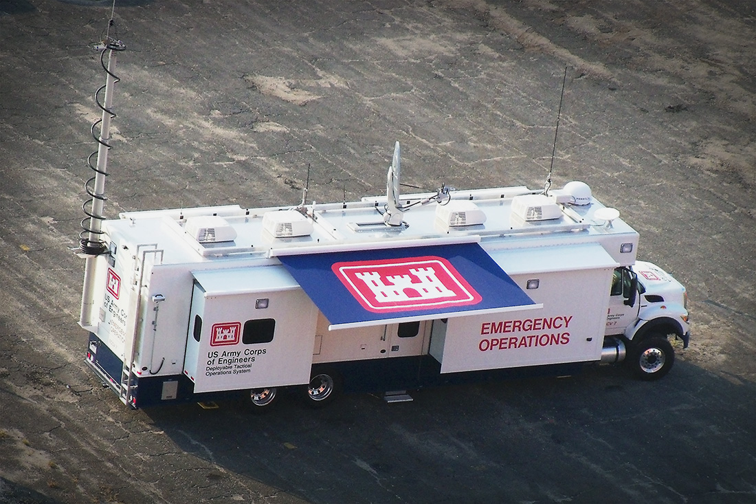 Army Corps Command Vehicle Deployed
