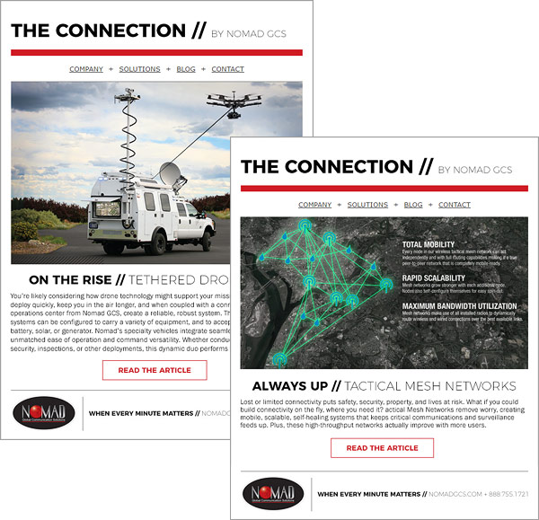 Nomad GCS Email Newsletter