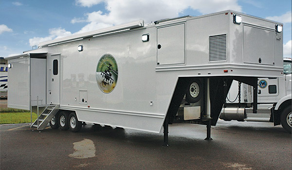 Army AFTD Mobile Telemetry Communications Trailer