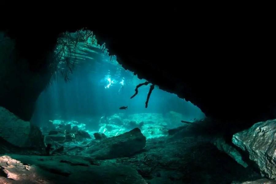 Cave diving Tulum