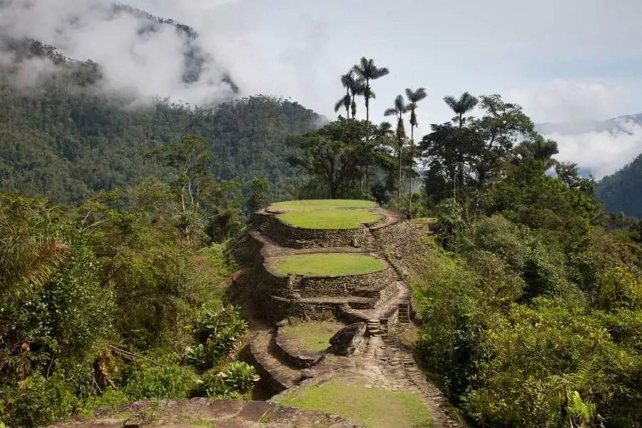 Ciudad Perdida Ancient ruin site in Colombia South America