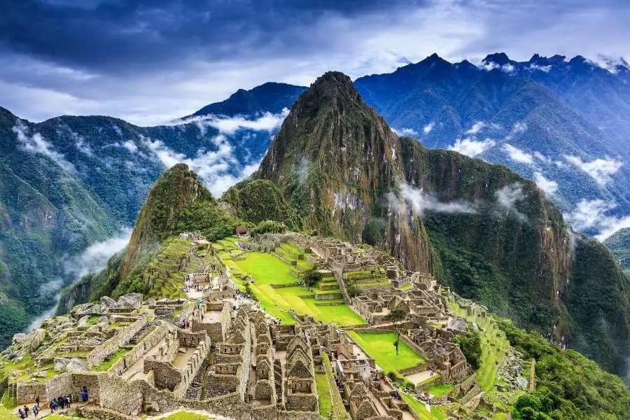 Machu Picchu Ancient ruin site in Peru South America