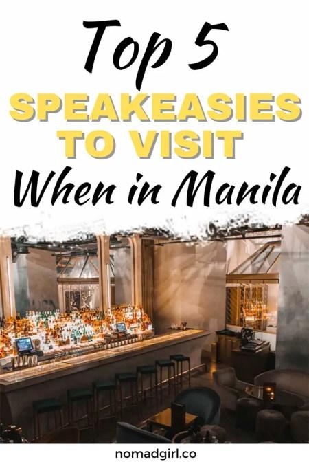 Top 5 speakeasies to visit when in Manila