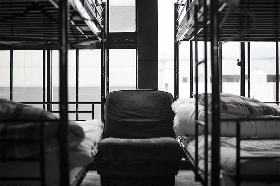 Hostel dorm room