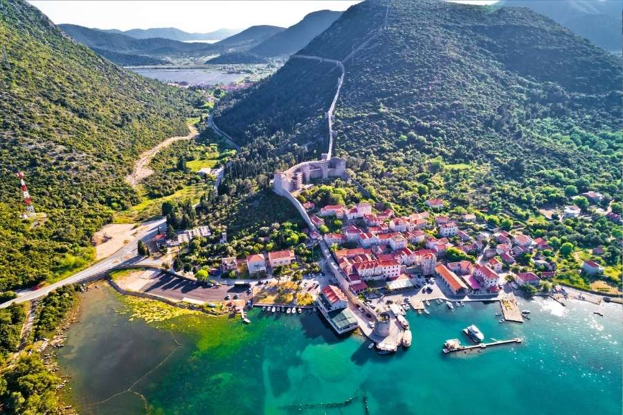 Croatia coastline - work here with your Croatia digital nomad visa