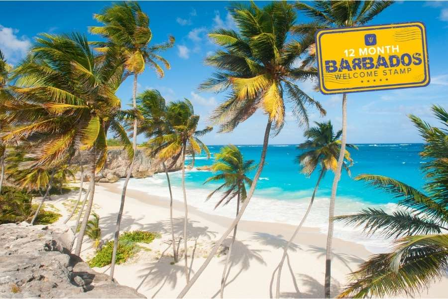 Barbados Welcome Stamp Digital Nomad Visa - work remotely for 1 year