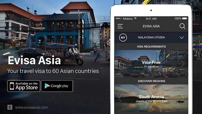 travel apps  - evisa asia