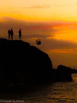 Sunset Sumersaults at Waimea Rock