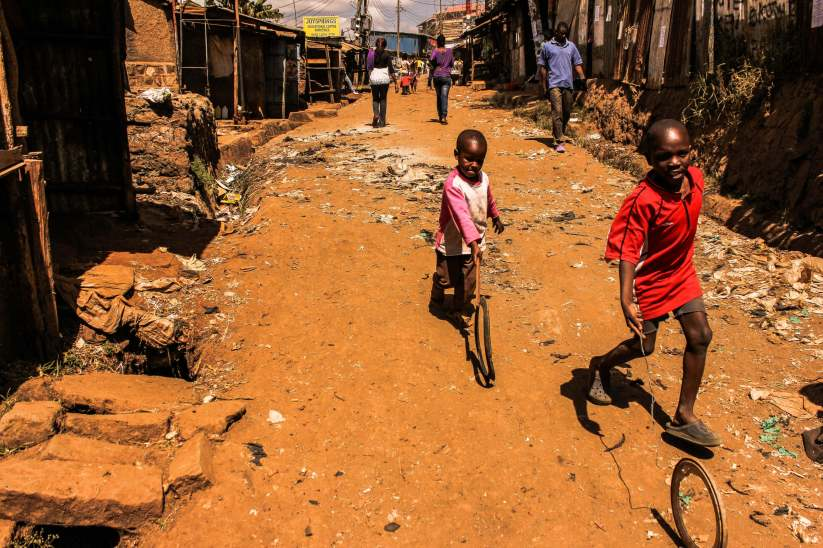 Children Playing in Kibera