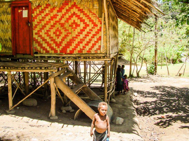 Leaf Hut Outside of Lae, Papua New Guinea