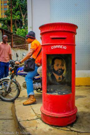 Samora Machel's Likeness in an Old Maputo Mailbox