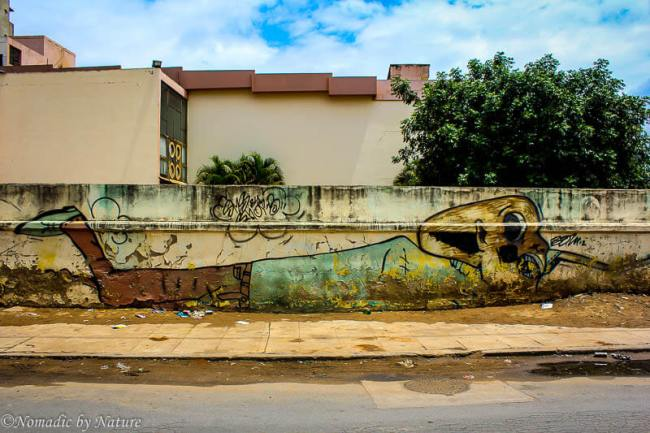 Art Deco Home on a Dilapidated Street in Maputo