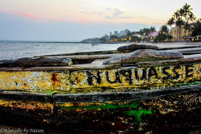 An Ancient Fishing Boat on the Maputo Beach