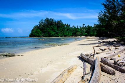 Deserted Beach at the Tip of Borneo