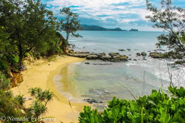 Crescent Moon Beach in Northern Borneo