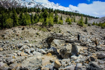 Make-shift Bridge in Fairy Meadows