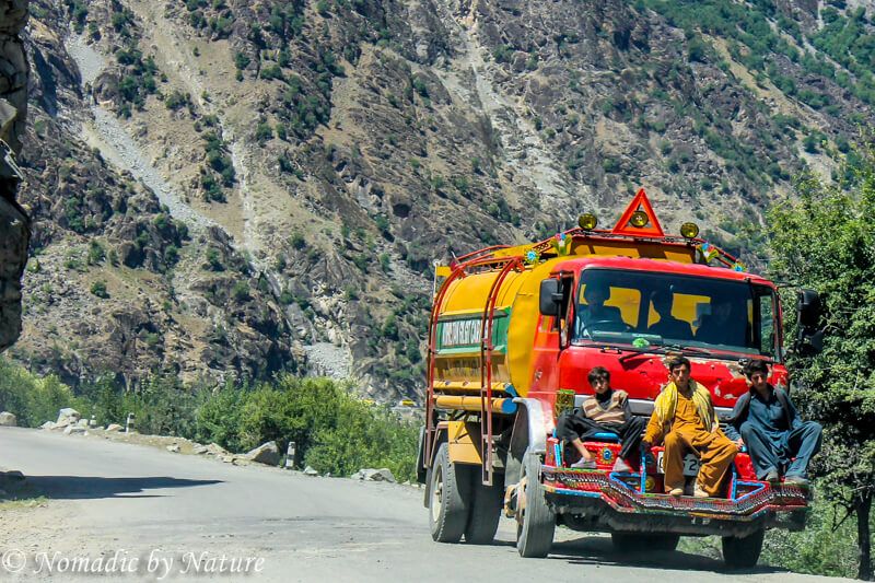 Hoping a Ride North on the Karakoram Highway