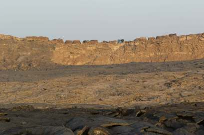 Out Lava Rock Camp on the Outer Rim, Erta Ale, Ethiopia