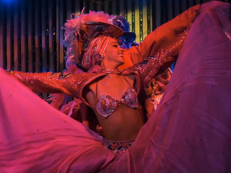 Cabaret Dancer Flaunting her Dress
