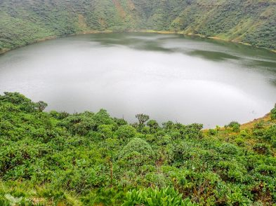 The Crater Lake, Bisoke Volcano, Volcanoes National Park, Rwanda