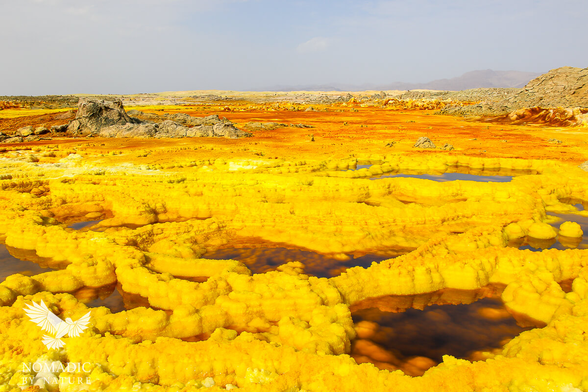 The Neon Yellow of the Dallol Hot Springs, Ethiopia