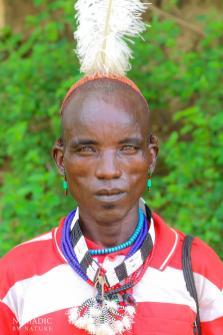 A Hamar Man with an Ostrich Feather, Turmi, Ethiopia