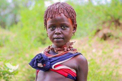 A Young Hamar Girl, Turmi, Ethiopia