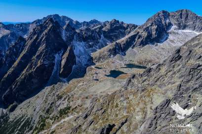A View of the Teryo chata valley, see the switchbacks in the bottom left leading up to it, High Tatras, Slovakia