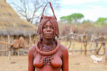 A Young Himba Woman in a Matrimony Headdress, Namibia