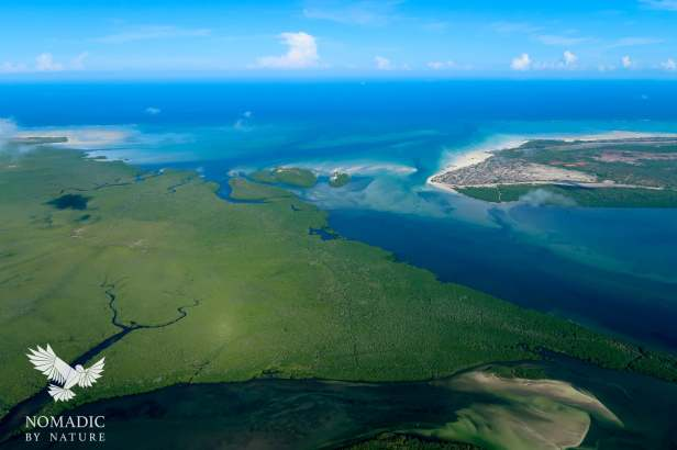 The Channel between Ibo Island and Quirimbas Island at High Tide, Mozambique