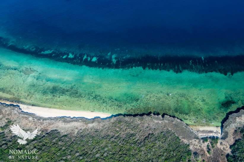 Ariel Shot of Beaches, Quirimbas National Park, Mozambique