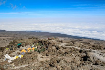 Barafu Camp in the Rocks and Above the Clouds, Mount Kilimanjaro, Tanzania
