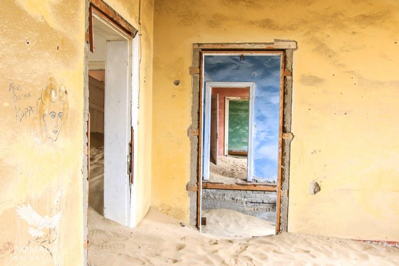 The Pastel Painted Walls, Kolmanskop Ghost Town, Namibia