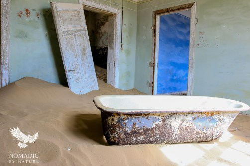 An Enamel Bathtub in the Ruins, Kolmanskop Ghost Town, Namibia