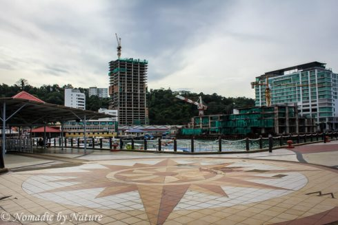 Jesselton Pier and the Rising Residences, Kota Kinabalu